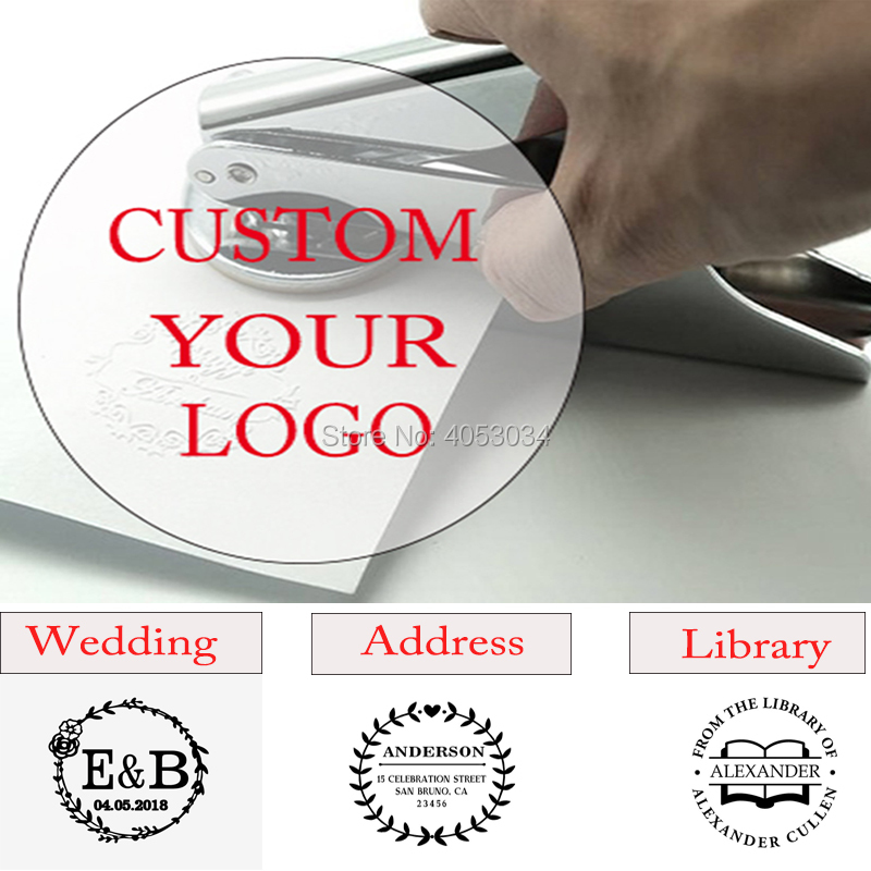 Custom Embosser Stamp ,Persoanlized Logo Embossing Seal Address  , From The Library Of Embosser,  Wedding Invitations,