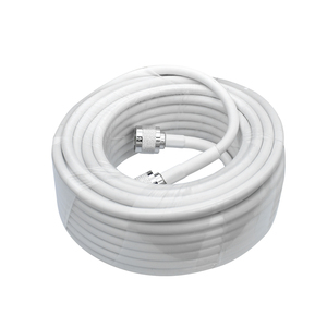 Image 4 - 13 Meters White RG6 Coaxial Cable N Male to N Male Connector Low Loss Coax Antenna Cable for Mobile Cell Phone Signal Booster