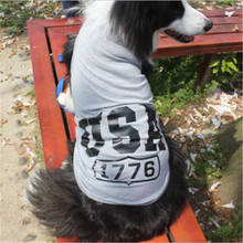 Spring and summer new big dog USA vest Jin Mao samoye mesh coat comfortable breathable large pet  clothes