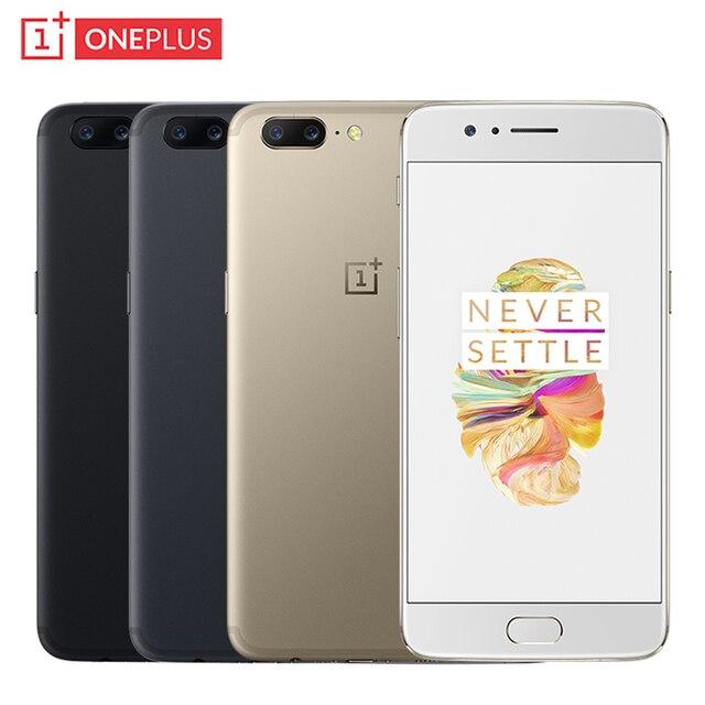 """Оригинальный OnePlus 5 сотовый телефон 5.5 """"Экран 6/8 ГБ Оперативная память 64/128 ГБ Встроенная память Snapdragon 835 восьмиядерный двойной камеры 16mp + 20mp NFC Смартфон"""