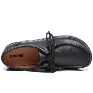 Image 3 - JZZDDOWN אמיתי עור נעלי אישה פלטפורמת תחרה עד נשים סניקרס פלטפורמה מקרית נעלי יוקרה נעלי נשים נשיות