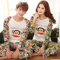 2016 Outono-manga Longa Amantes Dos Desenhos Animados Casa Assecla Pijama Define Amantes Roupas Casais Matching Pijamas Adulto Pijamas