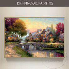 Artist Hand-painted High Quality Beautiful Thomas Landscape Oil Painting on Canvas Modern Wall Artwork