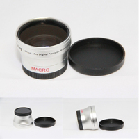 Replacement Lens 37mm 0 45x Wide Angle Macro Conversion Lens For Camcorders 37 0 45 Silver
