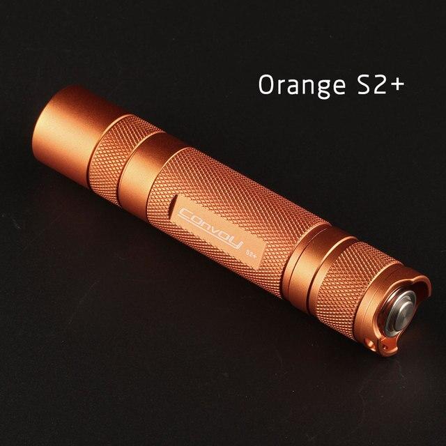 Convoy S2 + naranja Cree XML2 U2-1A EDC LED linterna antorcha linterna auto defensa. luz de camping, lámpara, para bicicleta,