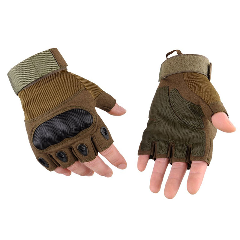 Military Tactical Gloves Men SWAT Army Soldier Paintball Gear Combat Half Finger Gloves Outdoor Sports Anti-Skid Hunting Gloves