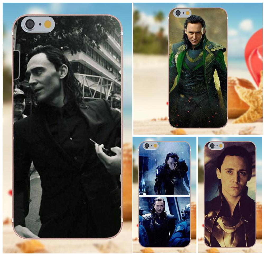 Tom Hiddleston Loki The Avengers Soft Design For iPhone 4S 5S 5C SE 6S 7 8 Plus X Galaxy Note 5 6 8 S9+ Grand Core Prime Alpha