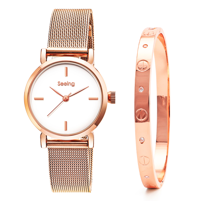 2019 Fashion Gold Lady Wristwatch Luxury Simple Women bangle Watches Casual Stylish Female Gift Clock watch gift set2019 Fashion Gold Lady Wristwatch Luxury Simple Women bangle Watches Casual Stylish Female Gift Clock watch gift set