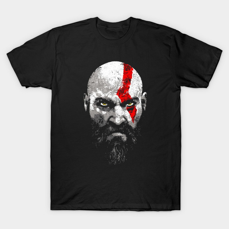2018 God of War 4 T-Shirt Gamers T-shirt Geek Shirt Kratos Graphic Shirt God Of War T Shirt Gaming Tee Shirt ...