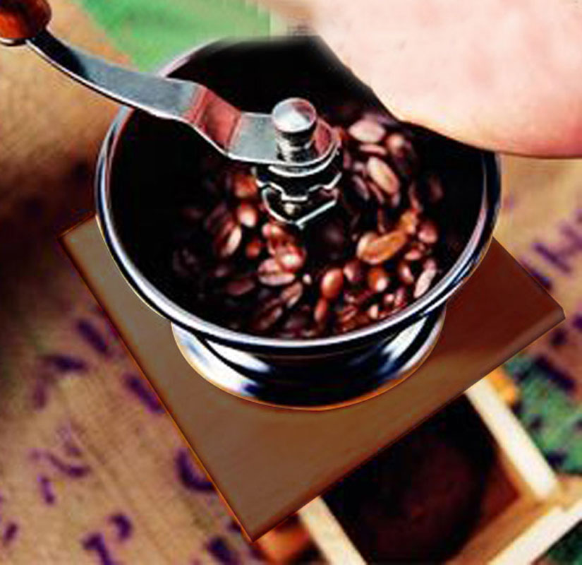 1PCS Retro Design Mini Manual Coffee Grinder Mill Wood Stand Bowl Antique Hand Coffee Bean Grinder Coffee Grinder Coffee Mill