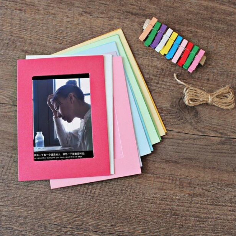 10Pcs/lot 6 Inch DIY Wall Hanging Cute Animal Photo Frame For Pictures Cartoon Paper Pictures Flim Album Wall Picture Album