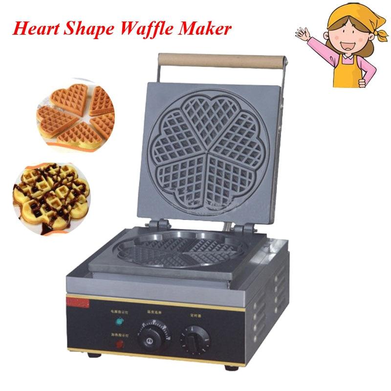Electric Heart Shape Mould Waffle Maker Mini Plaid Cake Furnace Heating Machine FY-215