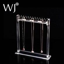 Wyczyść Lucite sztalugi naszyjnik stojak do wystawiania biżuterii stojak Organizer Holder bransoletka akrylowa łańcuszek urok sklepowy regał wystawowy półka