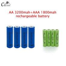 20 pcs AA 3200mAh Ni-MH Rechargeable Batteries + 20 pcs AAA 1800mAh Rechargeable Batteries camelion alwaysready 2100mah ni mh aa rechargeable batteries 2 pcs
