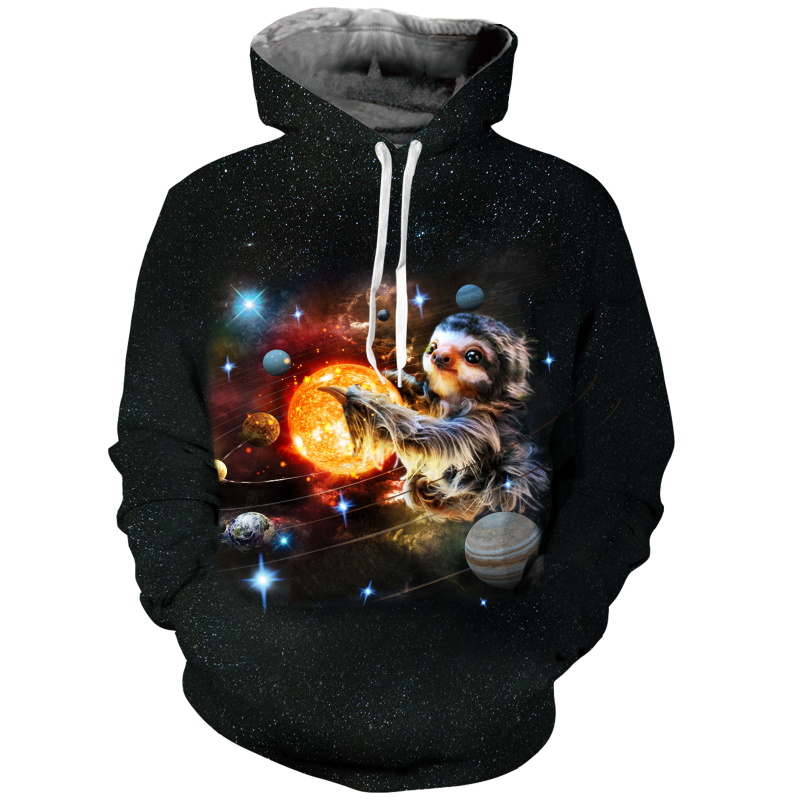 New Fashion Dinosaur Lion Tiger Alpaca Sloth Galaxy Men Hoodies Sweatshirts 3d Print Sweatshirts Cap Tops Men Hooded Nebula Jacket Dropship Hoodies & Sweatshirts
