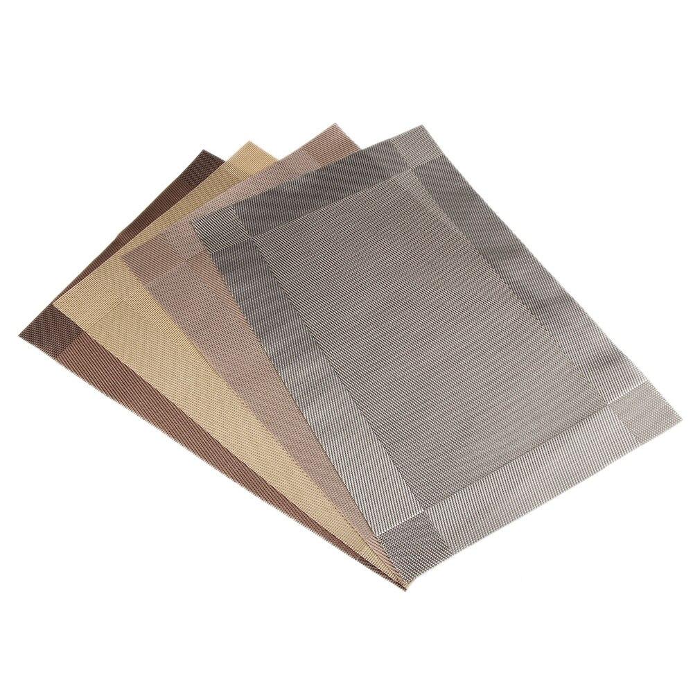 Bowl PVC Pad Western Coaster Diagonal Table Mats Slip-resistant Placemat