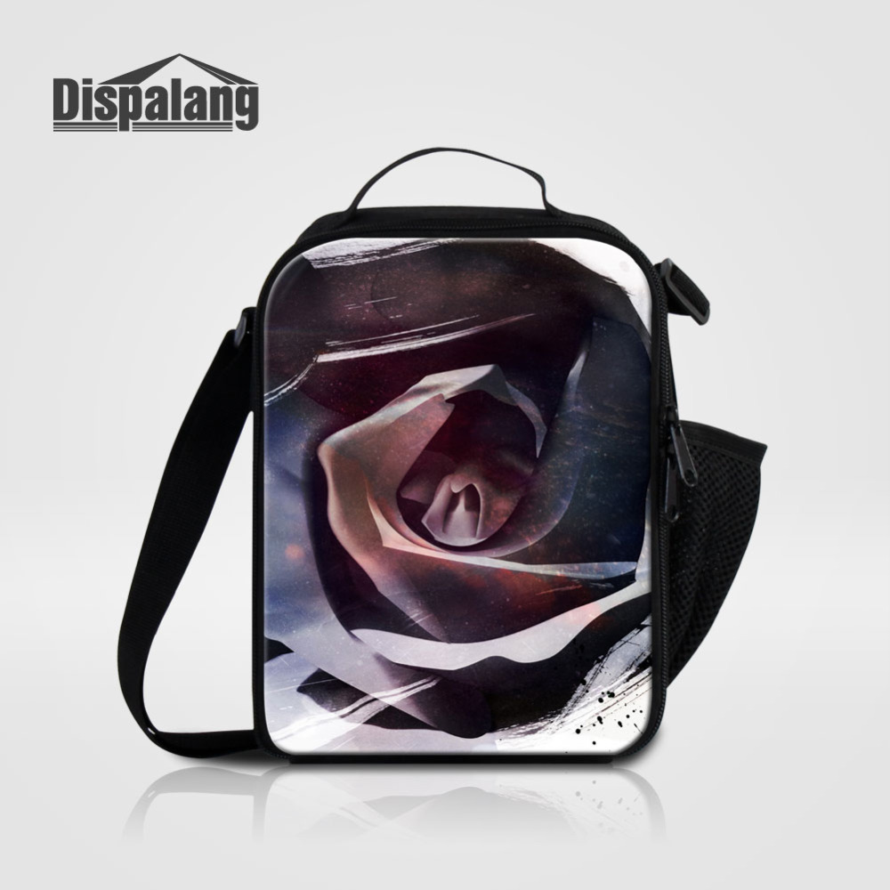 Dispalang 2017 Fashion Flower Cooler Lunch Bags For Kids Insulated Picnic Lunch Box Tote Mini Food Bags for School Bolsa Termica