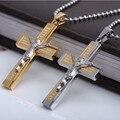 Collier Homme Bijoux Femme Jesus colares homens Corrent Ouro Colar Masculino Pingente TN008