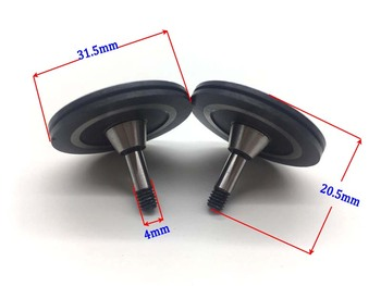 цена на Black Gemstone Guide Wheel Pulley 571 OD31.5mm*L20.5mm for EDM Wire Cutting Machine ART.2104E71