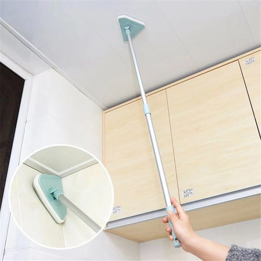 Home Glass Cleaning Tool Telescopic Rod Window Cleaner rod rotating head Sponge + Cleaning cloth Bathroom Cleaning brush