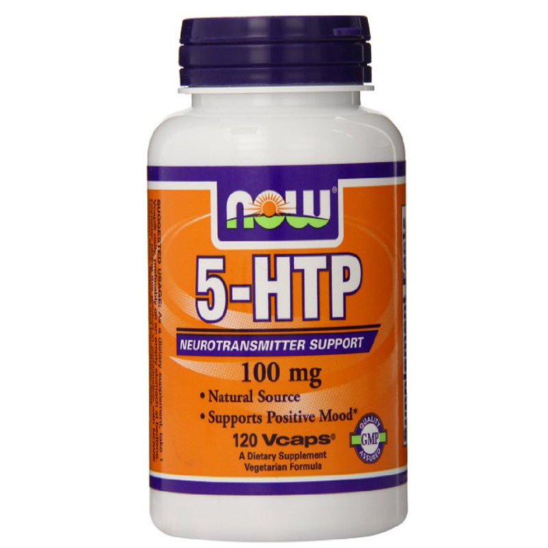 NOW Foods 5-HTP 100mg, 120 VCaps free shipping now foods candida support 90 veg capsules free shipping