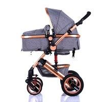 Zhilemei Олей коляска высокого пейзаж может сидеть или лежать шок зимняя одежда для малышей коляска Бесплатная доставка по России