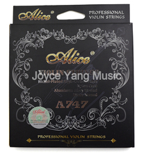Violin-Strings High-Carbon Nickel-Plated Wound Silver Professional A747 Alice Nylon-Core