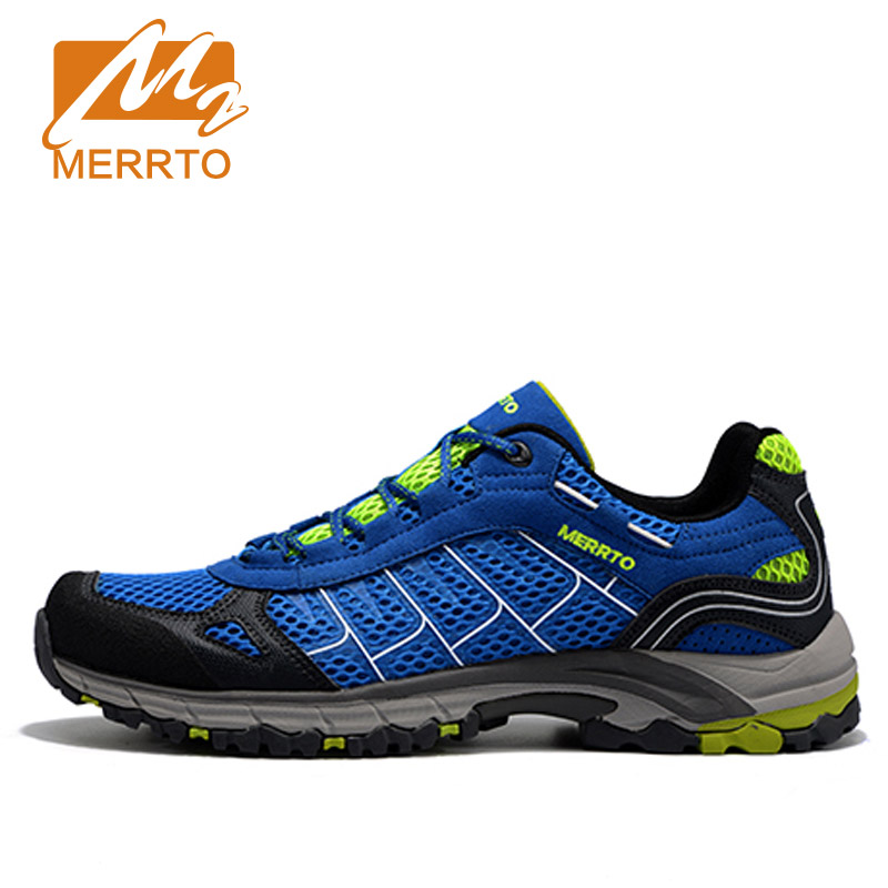ФОТО MERRTO Brazil Olympic Walking Shoes For Men Breathable Mesh Sport Lace-Up New Brand High Quality Sports Shoes#MT18588
