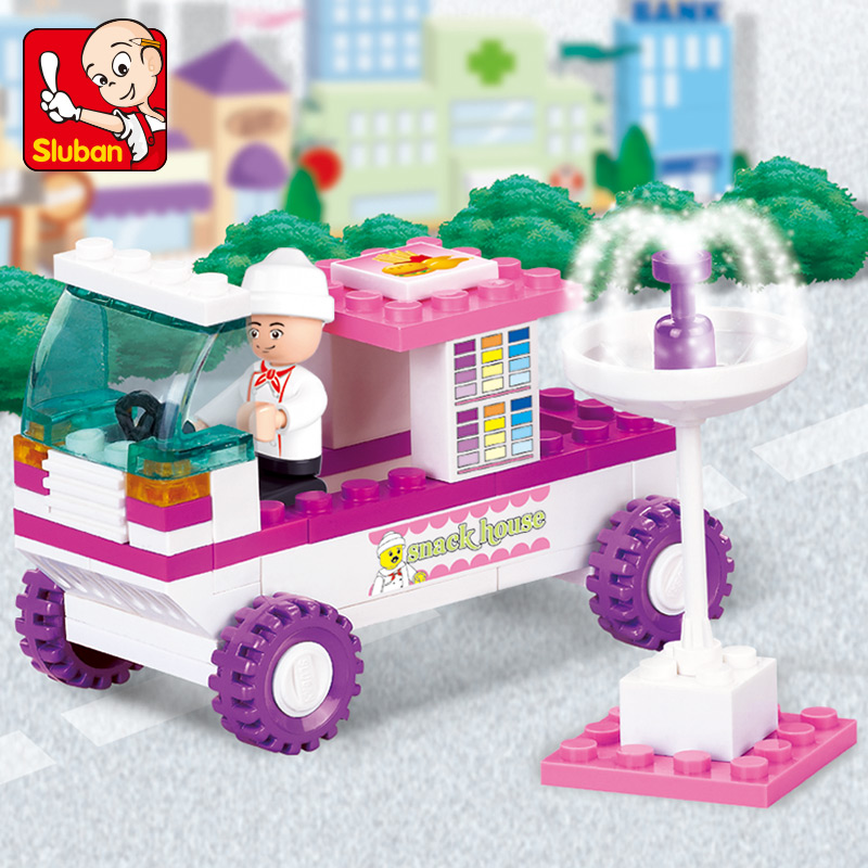 Sluban-Model-Toy-Compatible-with-Lego-B0155-102pcs-Snack-Car-Model-Building-Kits-Toys-Hobbies-Building-Model-Blocks-2