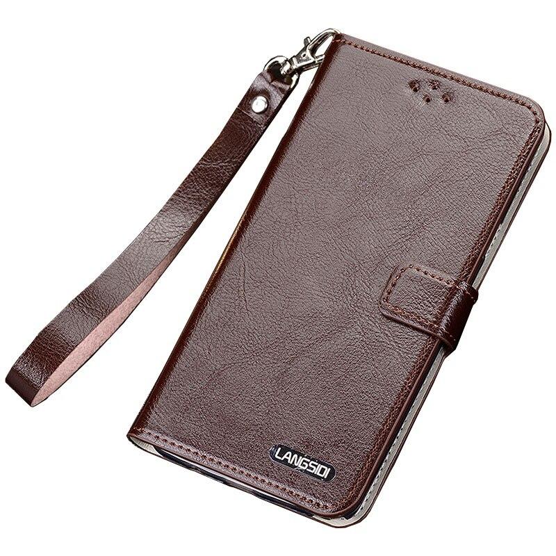 Original LANGSIDI Fashion Genuine Leather Lanyard Business Style Phone Case For Xiaomi Redmi Note 4 Note4