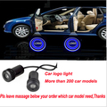For Peugeot LOGO Car LED Light Door Welcome Light Door Step Ground Projecting Lamp For 308SW/308CC/308/3008/RCZ/408/207/206 etc