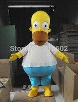 homer Simpson Mascot Costume Adult Size Simpson Character Mascot Costume