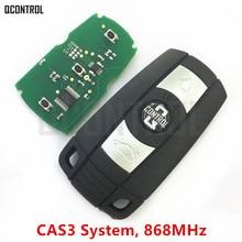 QCONTROL רכב מרחוק חכם מפתח 868 MHz עבור BMW 1/3/5/7 CAS3 X6 X5 Z4 רכב משדר עם שבב שליטה