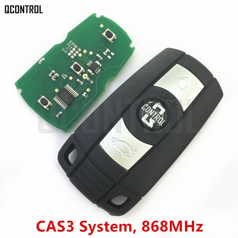 Qcontrol coche remoto Smart Key 868 MHz para BMW 1/3/5/7 Serie CAS3 X5 X6 z4 coche transmisor de control con chip