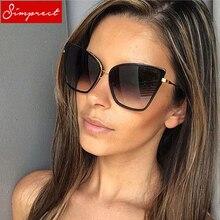 SIMPRECT Rétro Grand Chat lunettes de soleil Femmes 2019 Noir lunettes de  soleil miroir Mode Marque Designer qualité supérieure . f5cfe3bc5a78