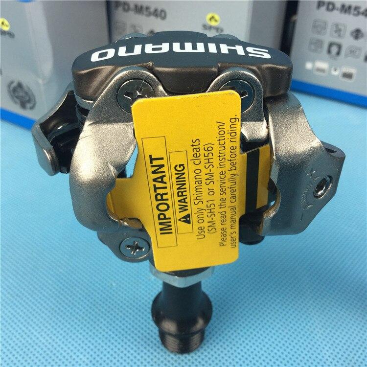 SHIMANO PD-M540 SPD pédales vélo de montagne auto-verrouillage pédales vtt vélo pédale avec crampons