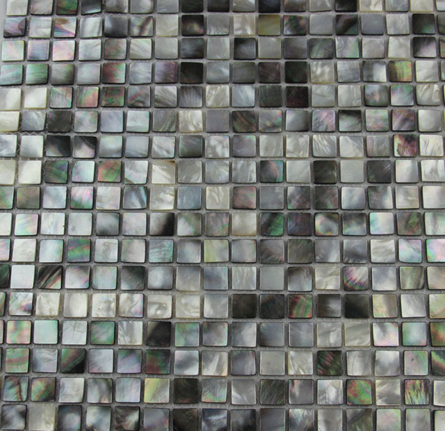 home decoration sea shell mosaic mother of pearl tiles black and grey natural meshjoint
