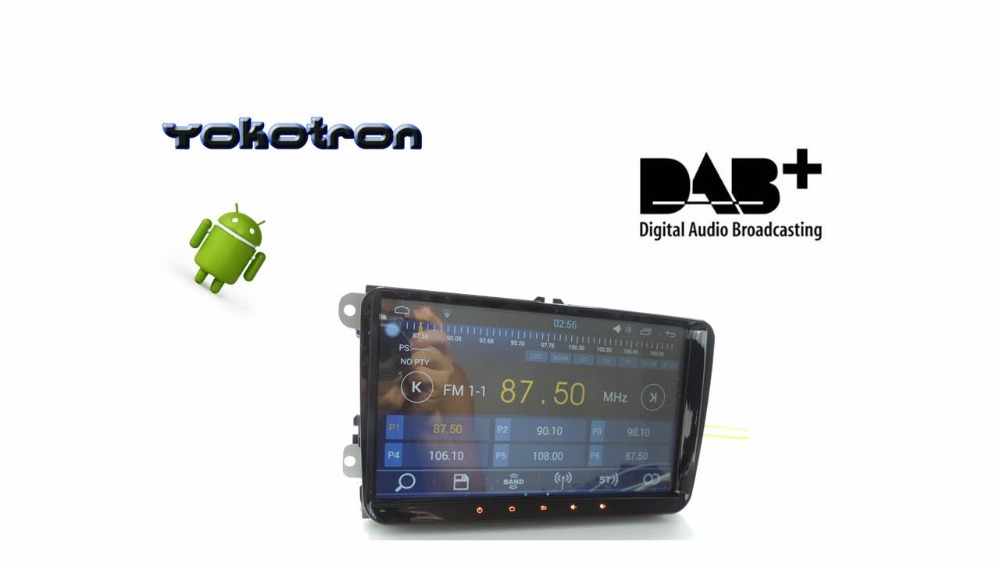 yokotron 9 android 6 car radio rds dab for vw rcd510. Black Bedroom Furniture Sets. Home Design Ideas