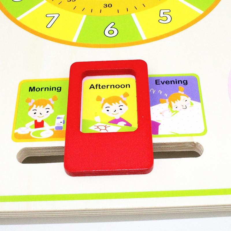 Calendar and Clock Wood Numbers Math Preschool Early Education 3