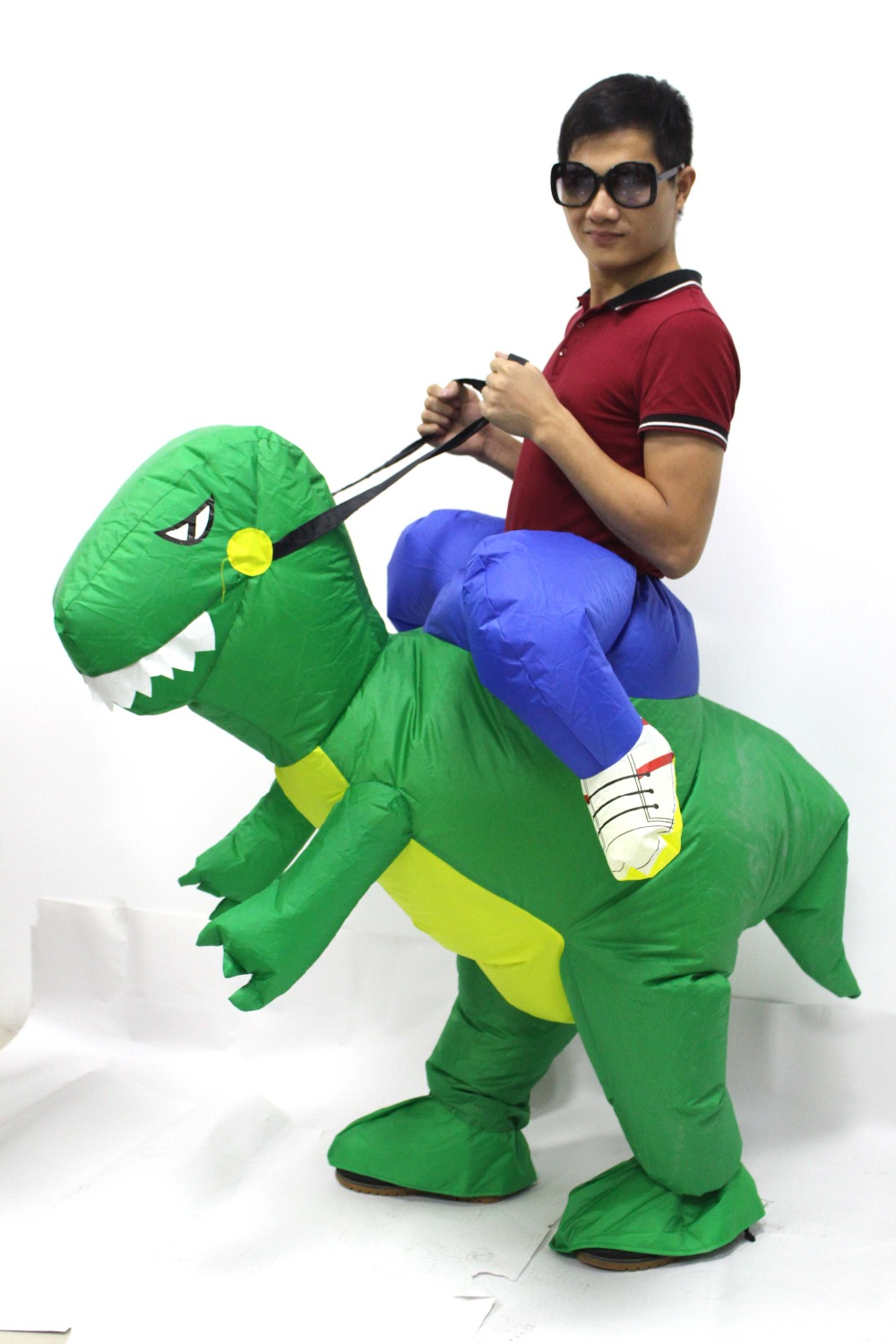Adult Inflatable Dinosaur Costume Dress Suit Party Kid Halloween Christmas Inflatable Costume Xmas Gift One Size Fit All Style