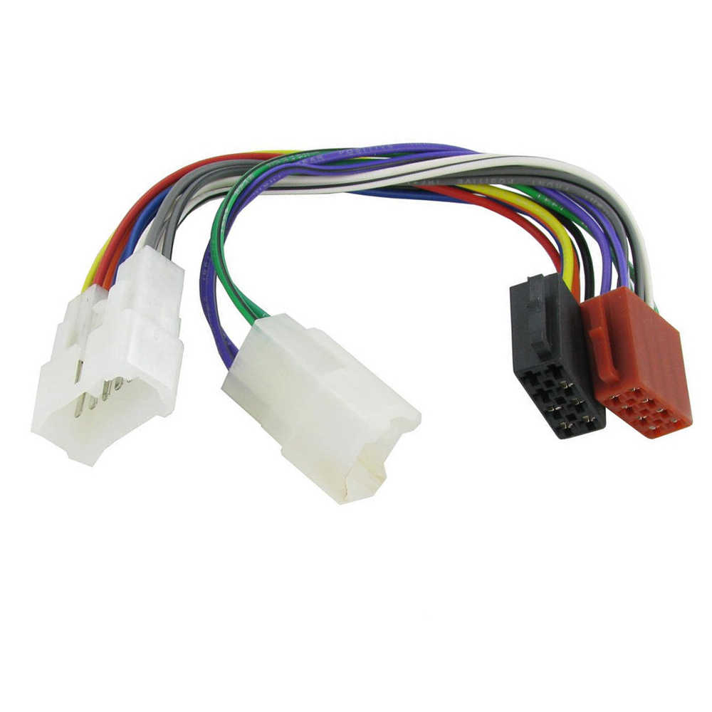 biurlink car radio stereo female/male styles iso plug wire for toyota iso wiring  harness