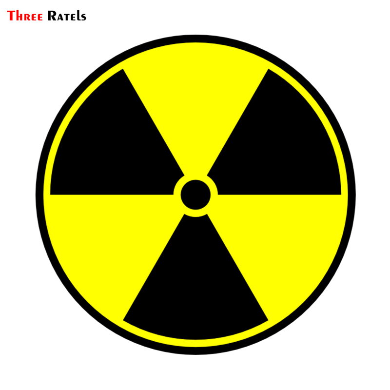 Three Ratels TRL024# 15x15cm Funny Car Stickers  Warning Radioactive Incessant Blabber Rad Sticker Funny Car Stickers And Decals