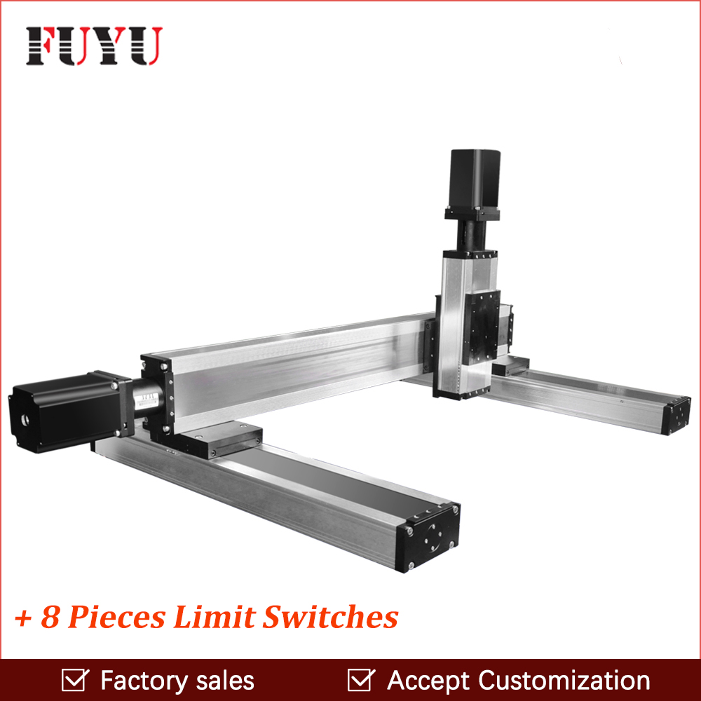 cnc ball screw linear rail guide stage motor actuator 80mm width slide system engraving drilling cutting machine Z axis 300mm free shipping factory sale ball screw linear guide rail xyz motorized stage table robotic arm z axis 300mm with motor