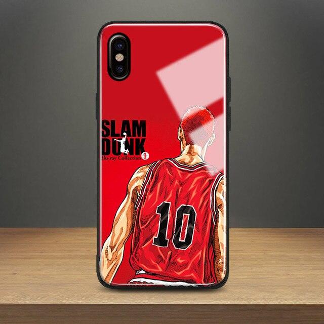 Slam dunk Hanamichi Sakuragi Tempered Glass Phone Case Soft Silicone Shell  Cover For Apple iPhone 6