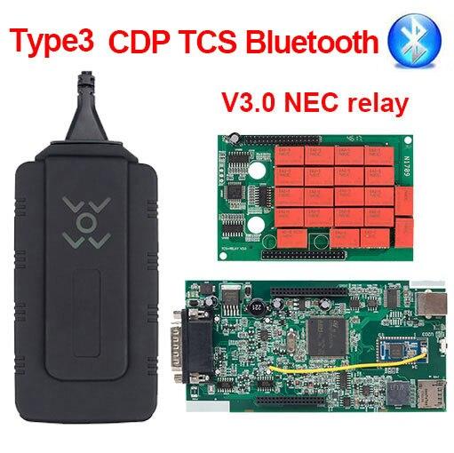 CDP TCS V3.0 плата OBD2 автомобильный Грузовик tcs cdp tcs pro монитор реле Bluetooth obd ii сканер,00 keygen автоматический диагностический инструмент - Цвет: CDP TCS BT