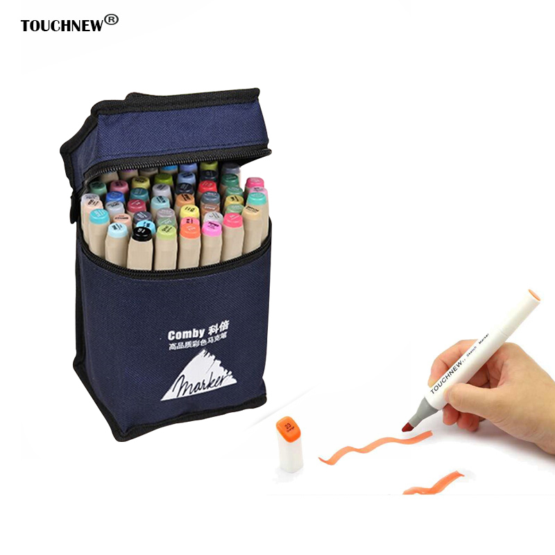 Touchfive Art Sketch Marker 30 40 60 80 Colors Set Oily Alcoholic Dual Headed Art Painting Markers Art Supplies Manga Design Pen touchnew 30 40 60 80 color art markers set material for drawing alcoholic oily based marker manga dual headed brush pen