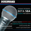 Free Shipping Top Quality Beta58A Supercardioid Dynamic Vocal Wired Microphone Beta 58A 58 A Mike Mic With Bright Clean Sound !