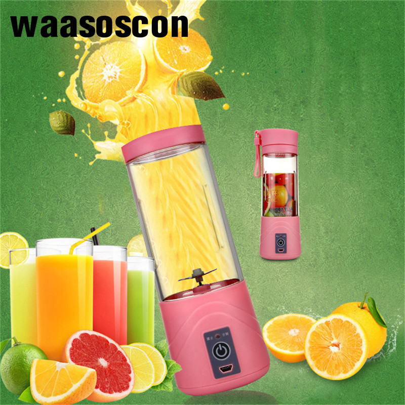 USB Rechargeable Juicer Water Bottle 420ml Mini Portable Electric Lemon Fruit Juicer Milk Shake Smoothie Maker Blender