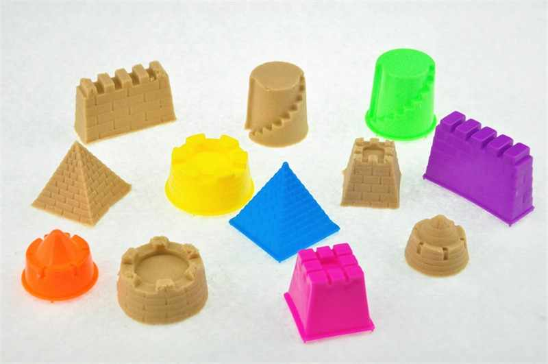 6Pcs/Set Sand Clay Mold Building Pyramid Sandcastle Beach Sand Toy Baby Model Building Kits Child Kid Favor Portable Castle