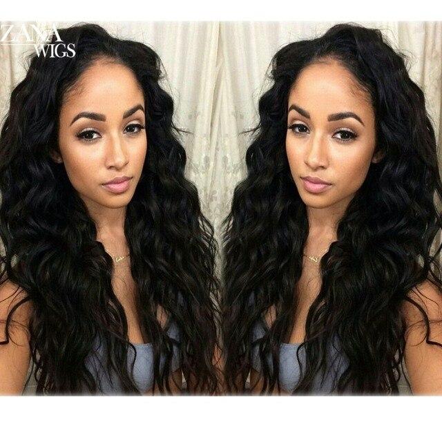 7А Glueless Полный Кружева Парики Человеческих Волос с Волосами Младенца Бразильского девственные Волосы Свободная Волна Кружева Передние Человеческих Волос Парики для Черного женщины